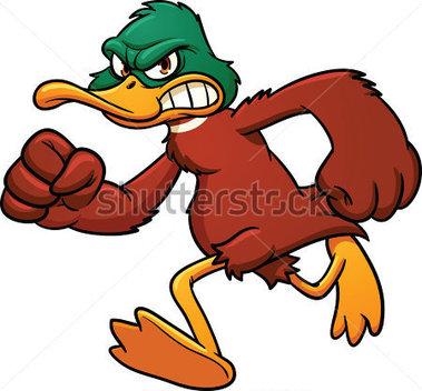 Running Duck Cartoon Clipart.