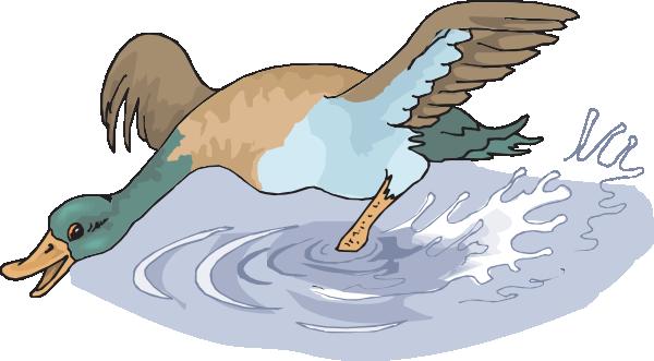Running duck clipart.