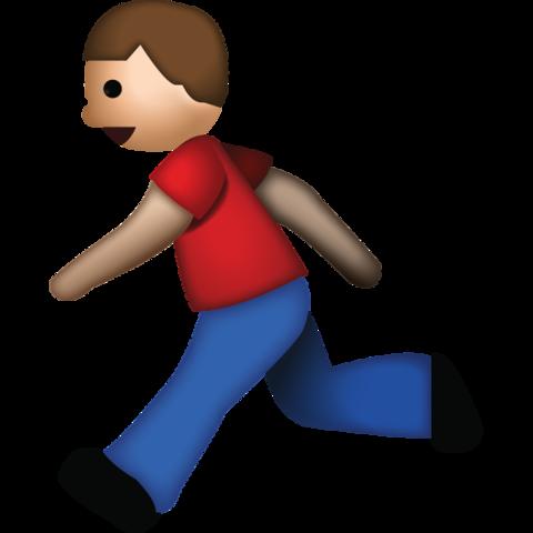 Man Running Emoji.
