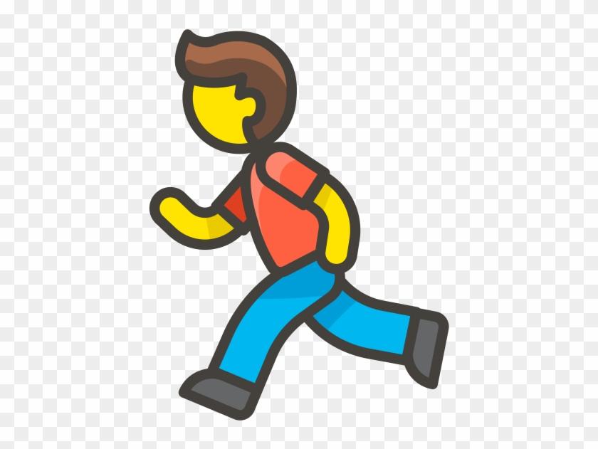 Man Running Emoji, HD Png Download.