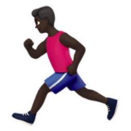 Man Running: Dark Skin Tone Emoji (U+1F3C3, U+1F3FF, U+200D.