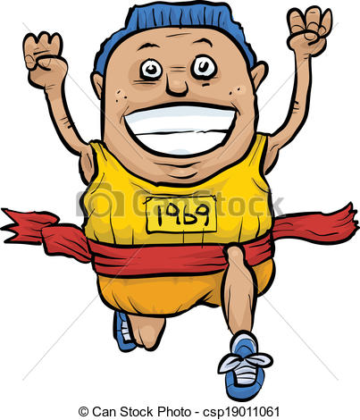 Clip Art Vector of Running Finish Line.