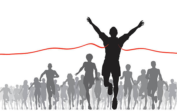 Running Race Clip Art, Vector Images & Illustrations.