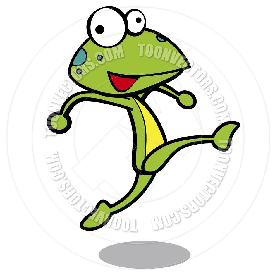 Cartoon Frog Running by totallypic.com.