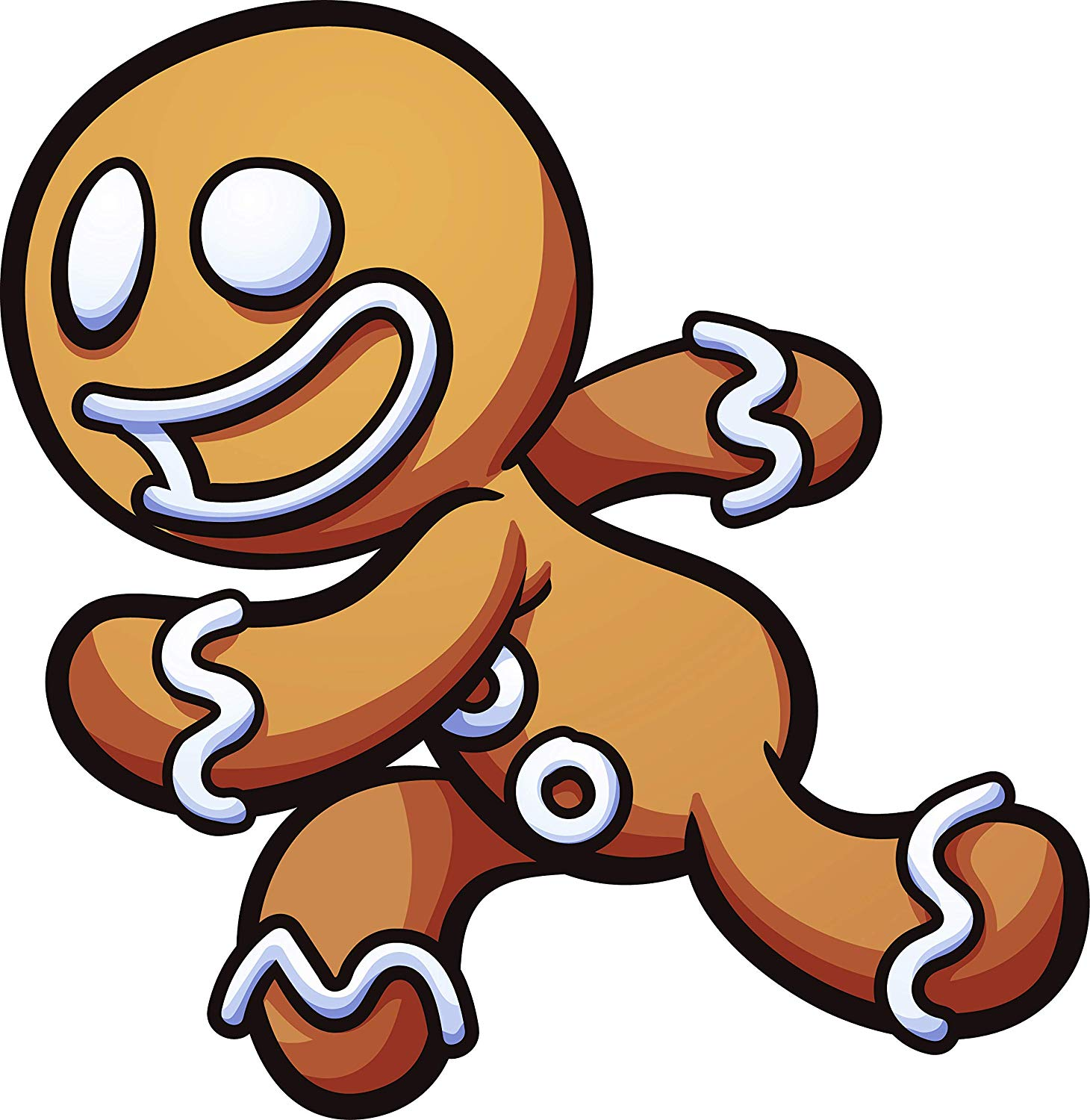 Amazon.com: Cute Silly Holiday Gingerbread Man Cartoon Emoji.