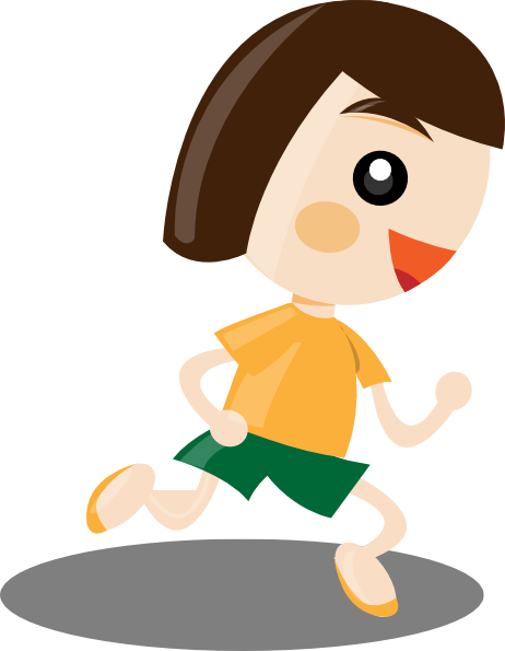 Running Girl Clip Art at Clker.com.
