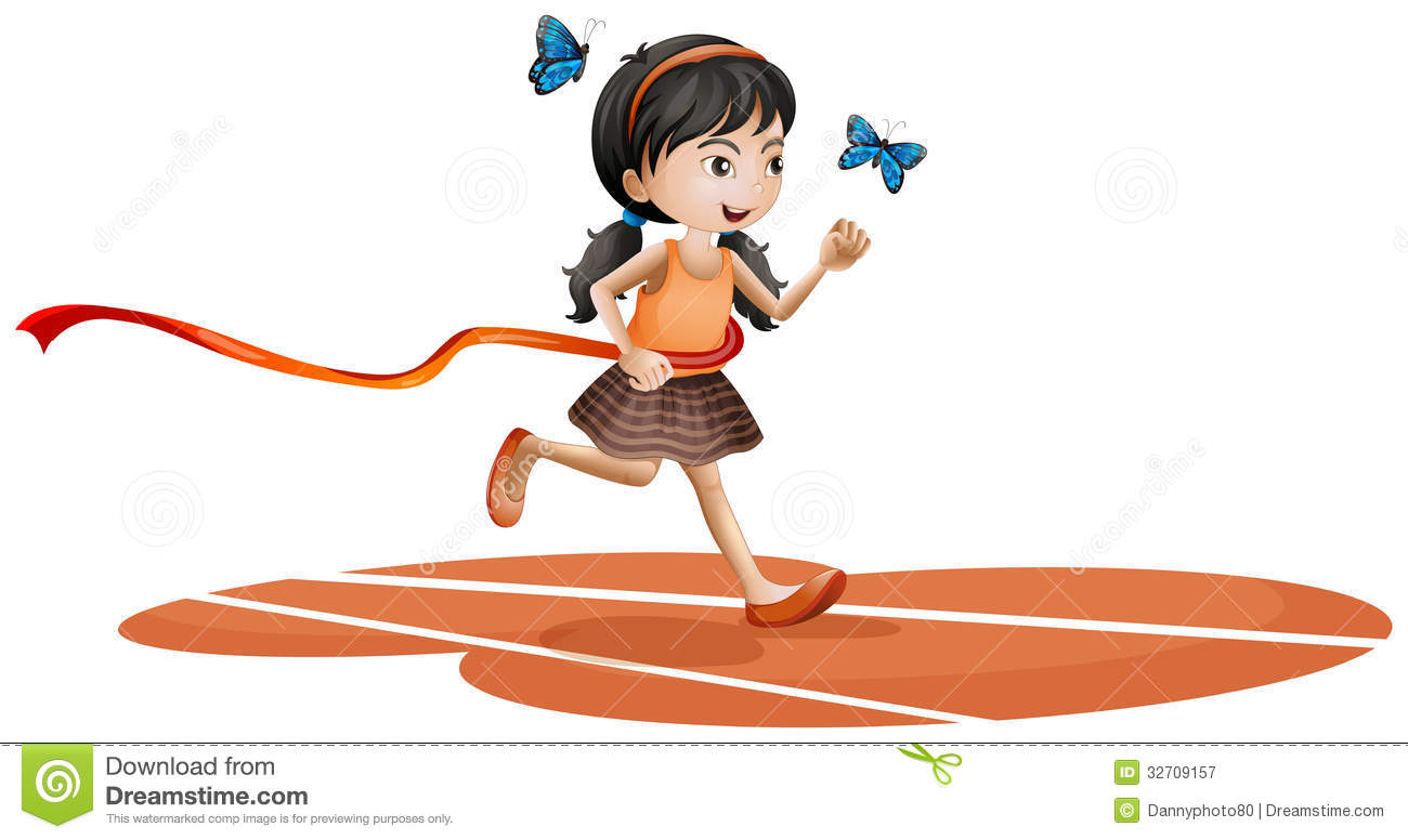 Scared Girl Running Clipart Free.