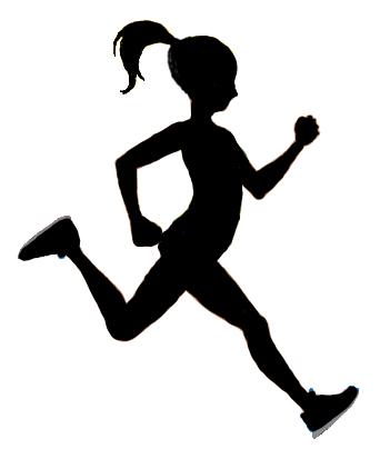 Girl Running Clipart Free.