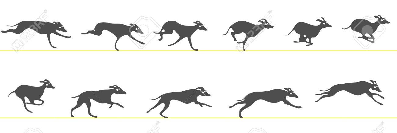 Running Greyhound Clipart Free.