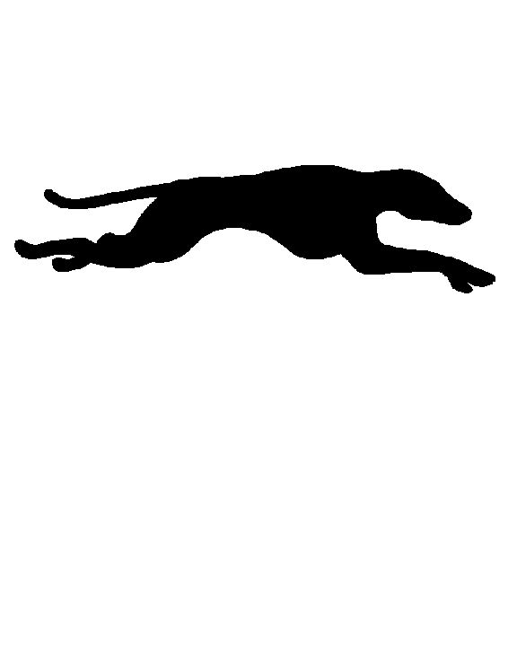A lovely basic silhouette of running greyhound..