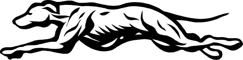 Greyhound Logo Clipart.