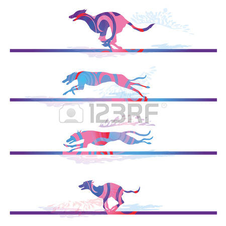 2,552 Greyhound Stock Vector Illustration And Royalty Free.