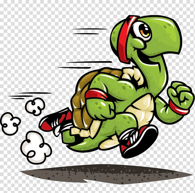 Running turtle illustration, Turtle The Tortoise and the.
