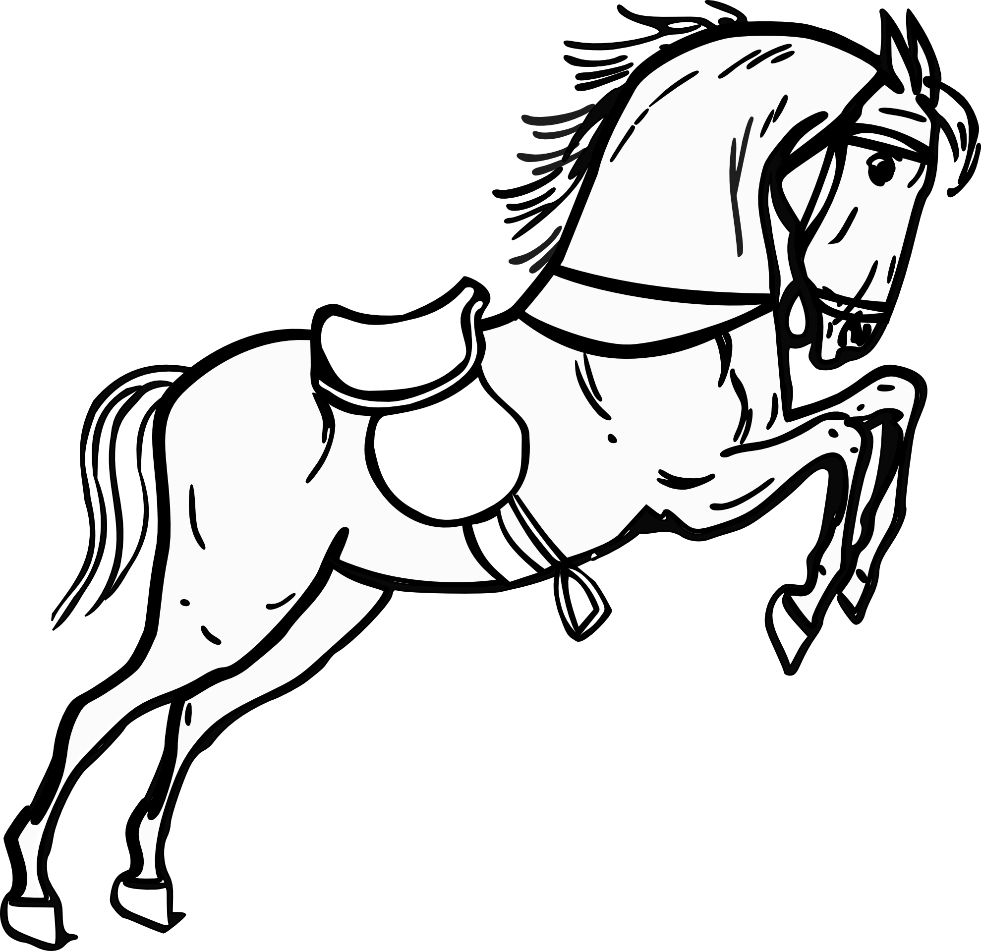 Best Horse Clipart Black and White #28964.