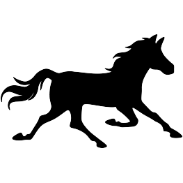 Running Horse Silhouette Png.