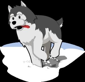 Husky Running In Snow Clip Art at Clker.com.