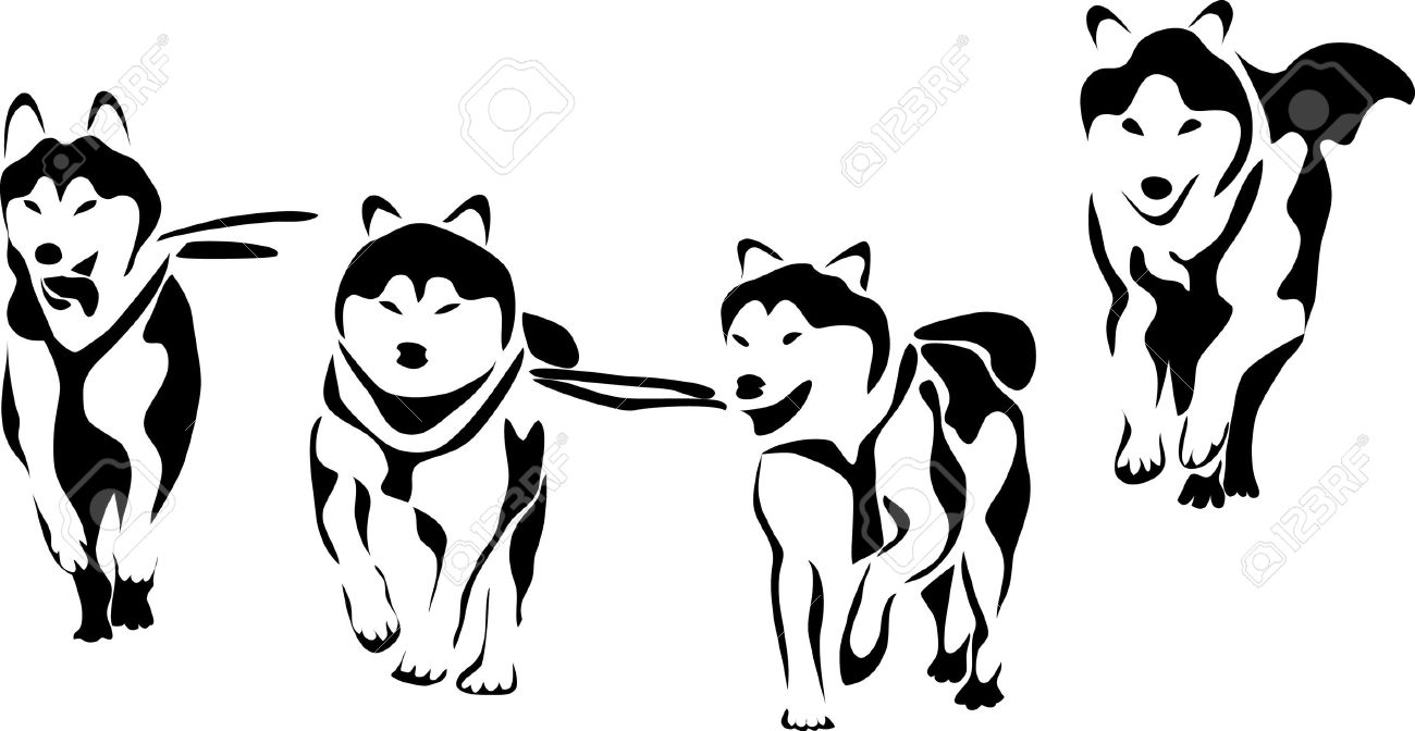 Running Husky Clipart 20 Free Cliparts