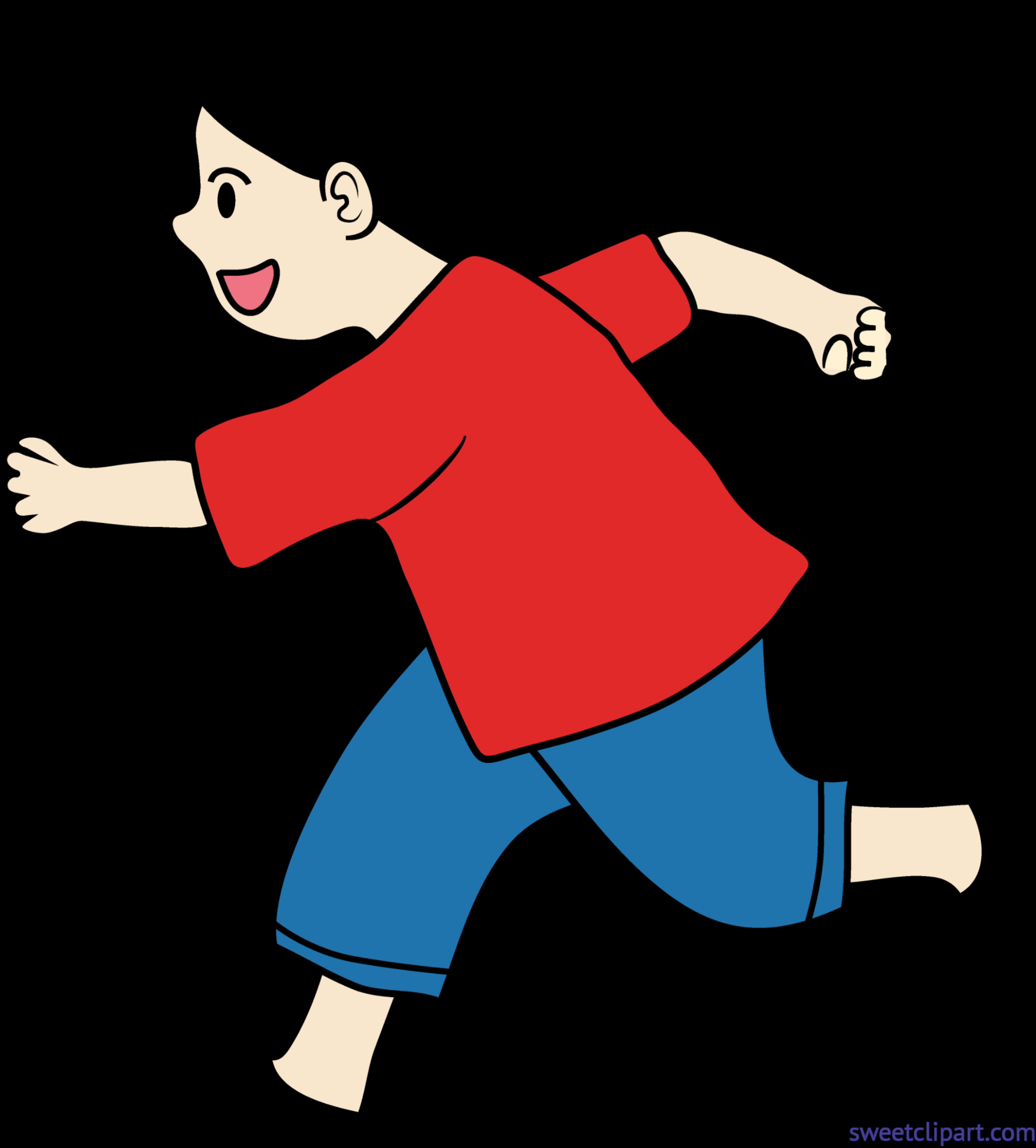 Running Kid Clip Art.