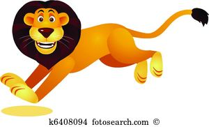 Lion running Stock Illustrations. 53 lion running clip art images.