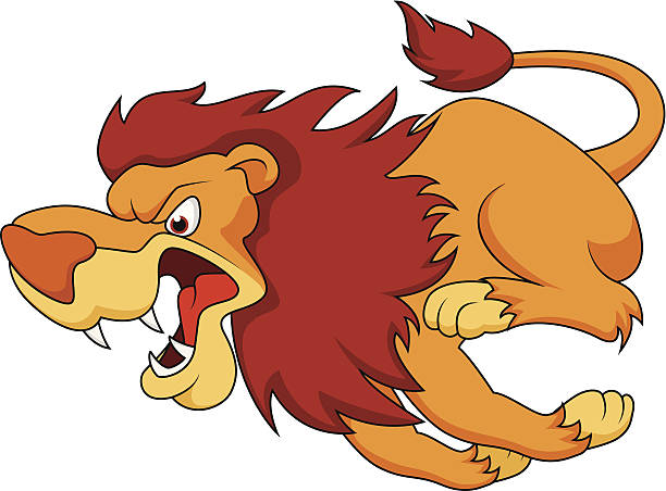 Lion Run Clip Art, Vector Images & Illustrations.
