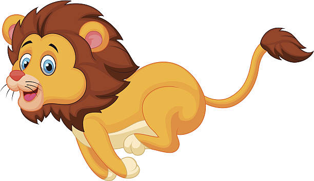 Lion Running Clip Art, Vector Images & Illustrations.