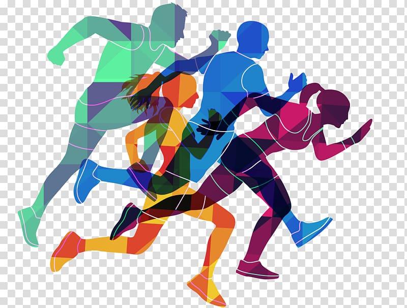 Resolution Run Running Logo , Color running character.