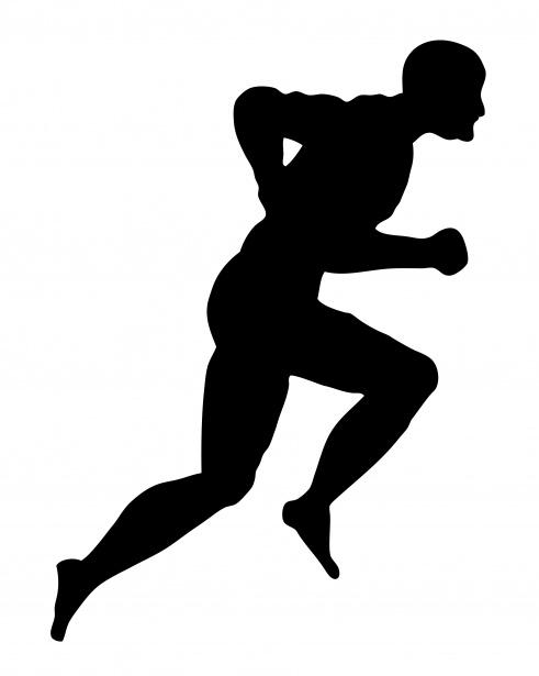 Running Man Silhouette Clipart Free Stock Photo.