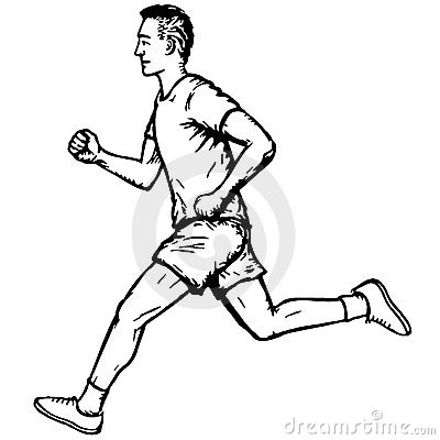 Running Man Royalty Free Stock Image.