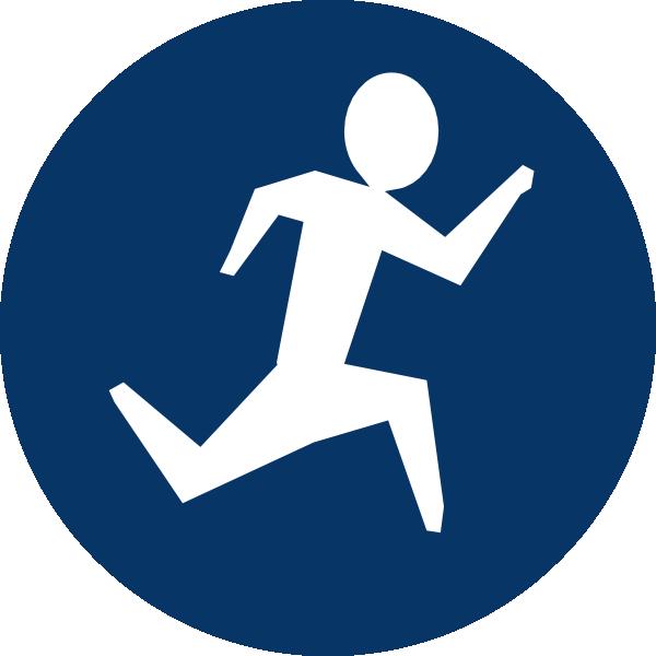 Blue Running Man Clip Art at Clker.com.