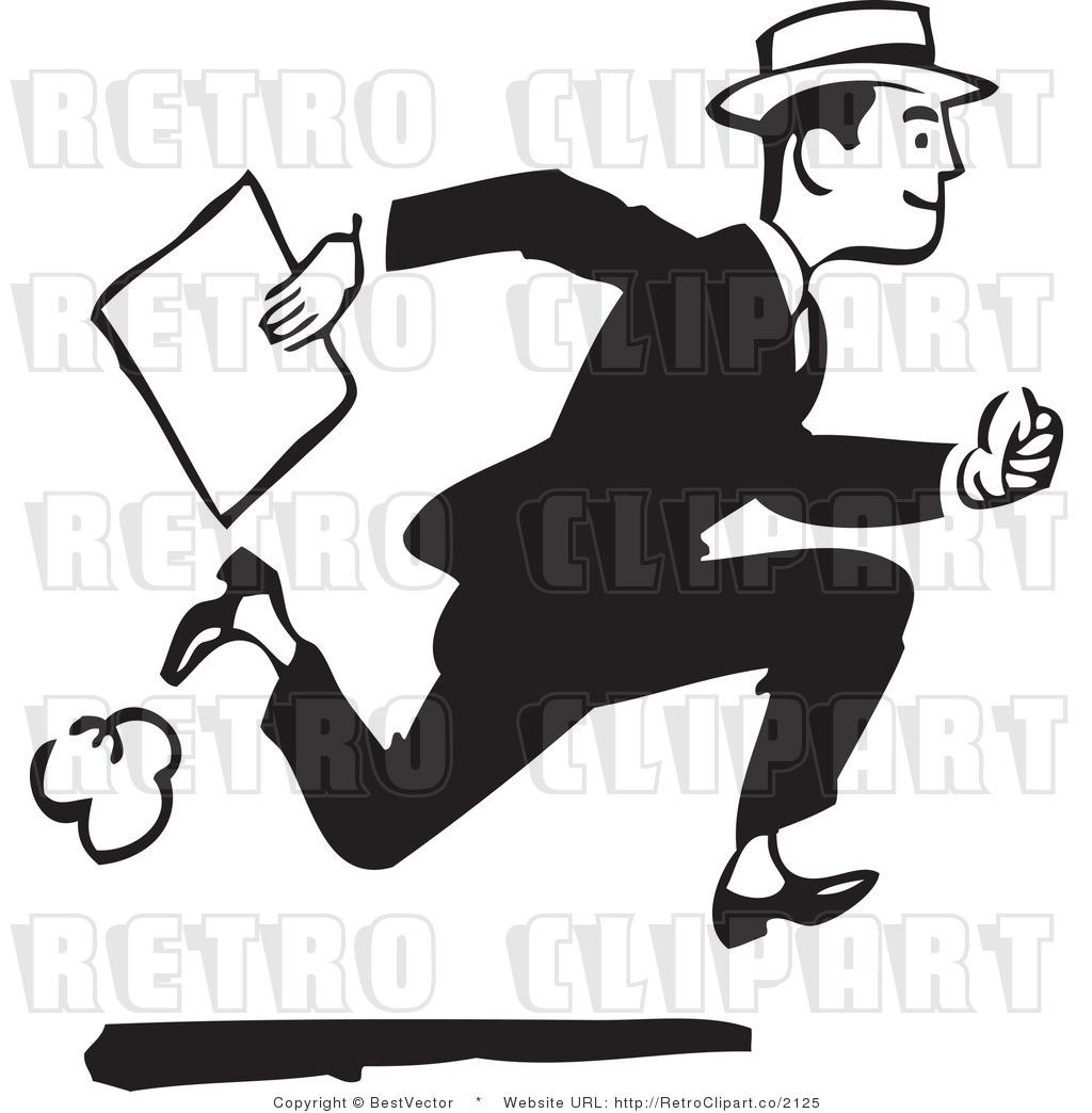 Black Man Running Clipart.