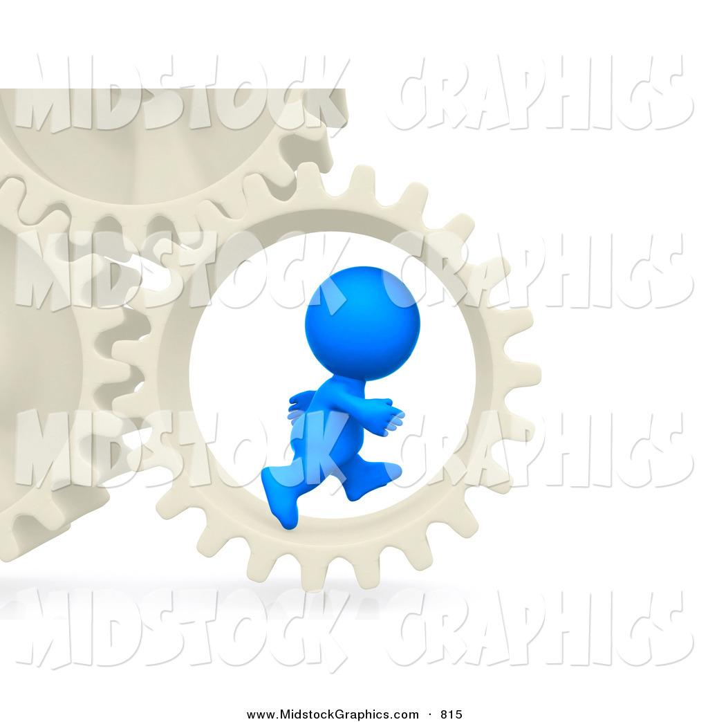 Running Man Clipart Blue.
