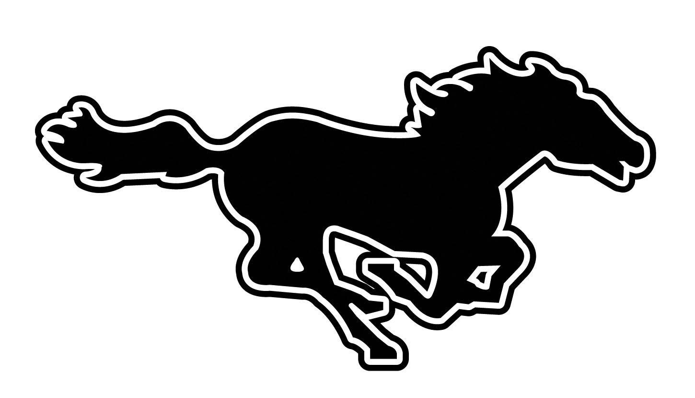 Running Mustang Clipart.