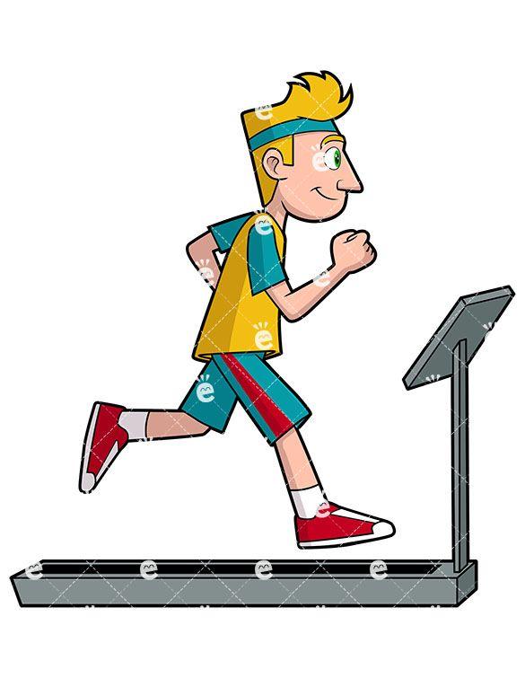 A Man Running On A Treadmill in 2019.