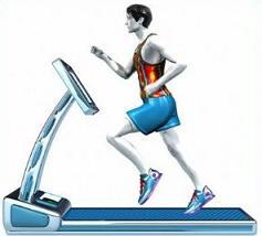 Treadmill running clipart.