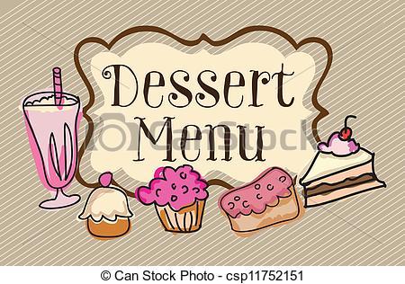 Dessert Tray Clipart.