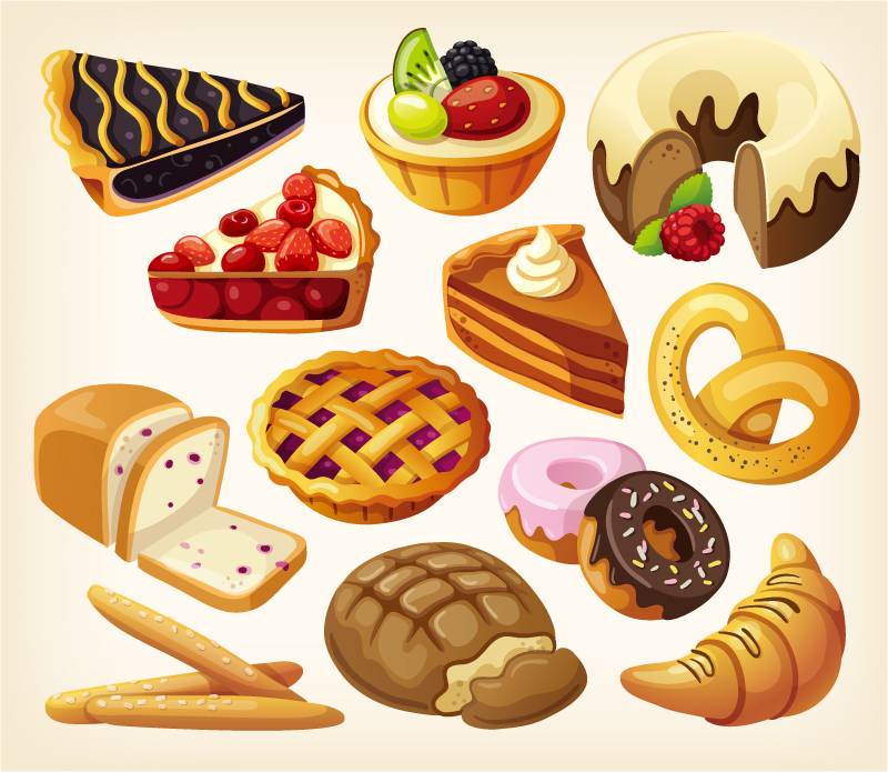 French Pastry Clipart.
