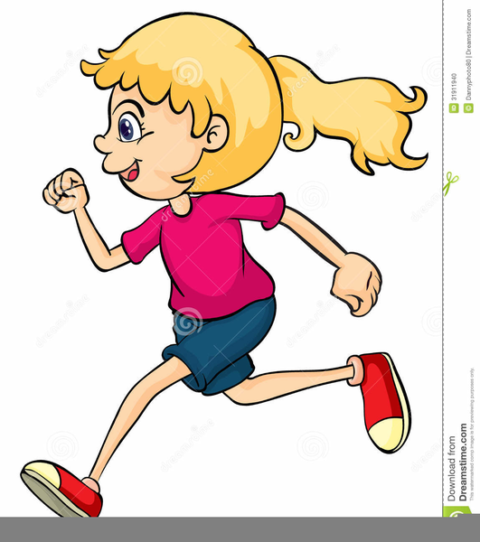 Boy And Girl Running Clipart.