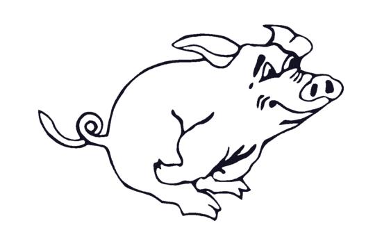 Free Lalolalo Running Pig Clipart Image.