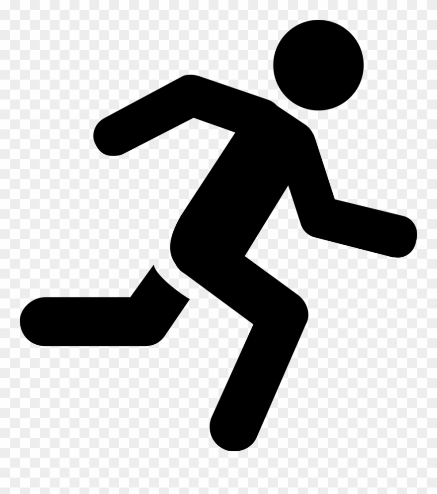 Running Man Svg Png Icon Free Download Clipart (#2617235.