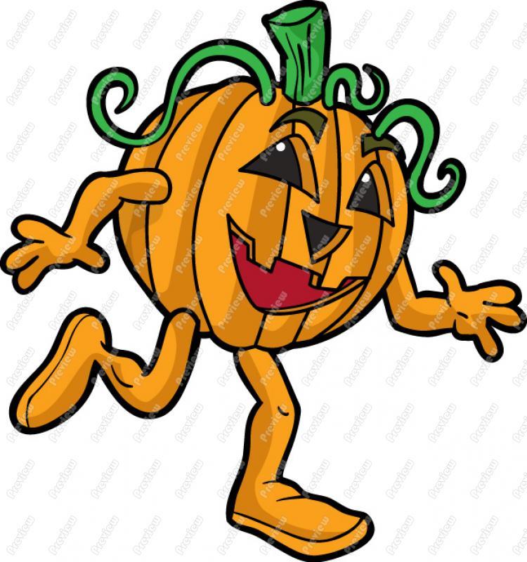 Download Free png Running Pumpkin Clipart.