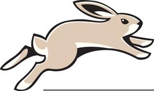 Free Clipart Rabbit Running.