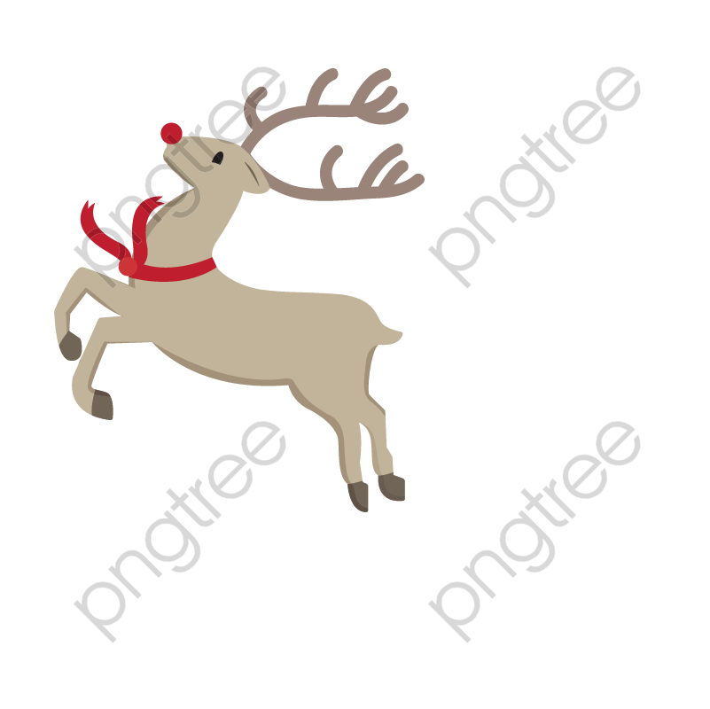 Transparent running reindeer PNG Format Image With Size 801.