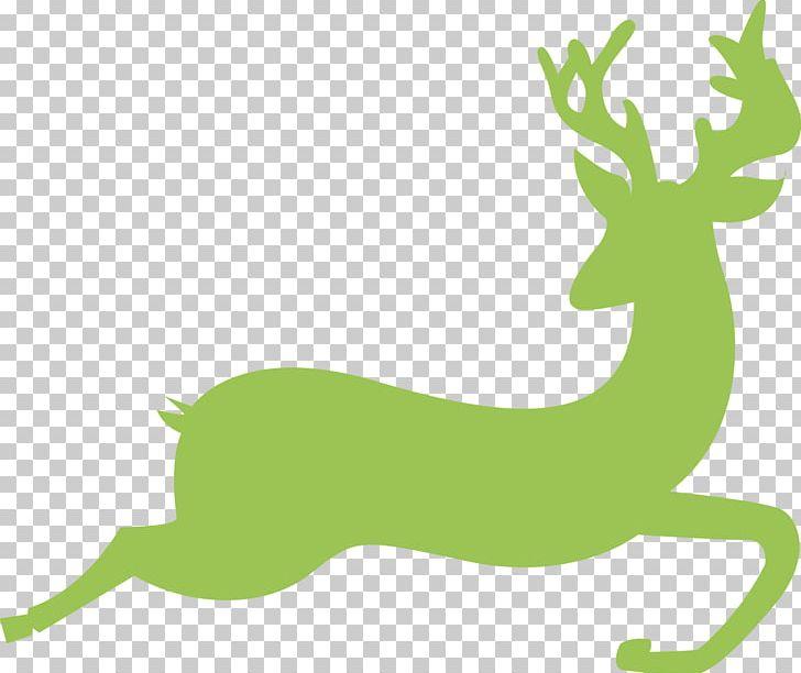 Reindeer Antelope Gazelle Santa Claus Drawing PNG, Clipart.