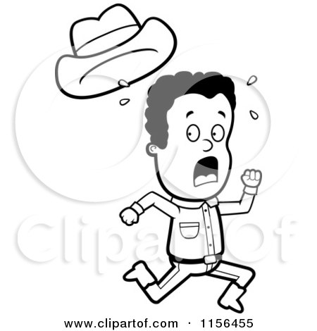 Running Scared Clipart