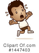 Running Scared Clipart #1.