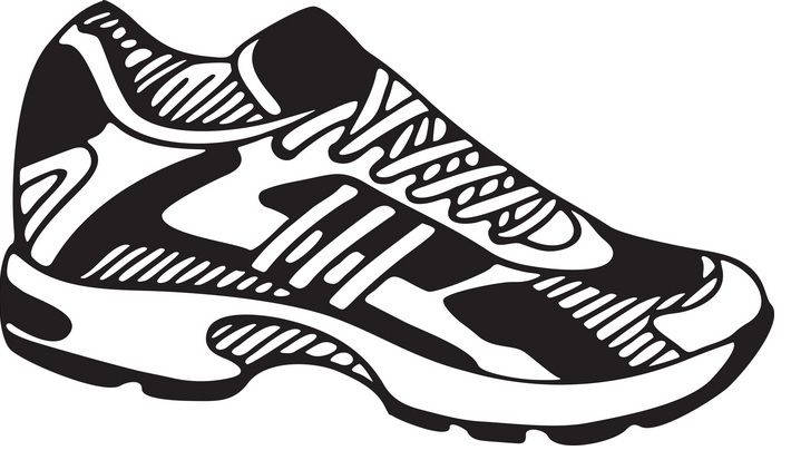 Tennis Shoe Clipart #1.