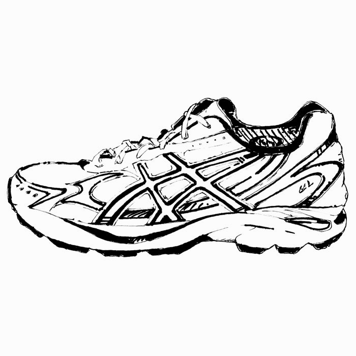 Running shoes clipart black and white tennis clip art.