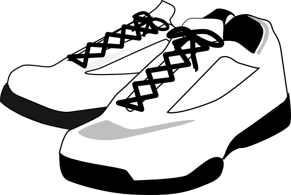 Running Shoes Clipart Black And White.