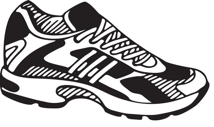 Free Running Shoe Clipart Black And White, Download Free.