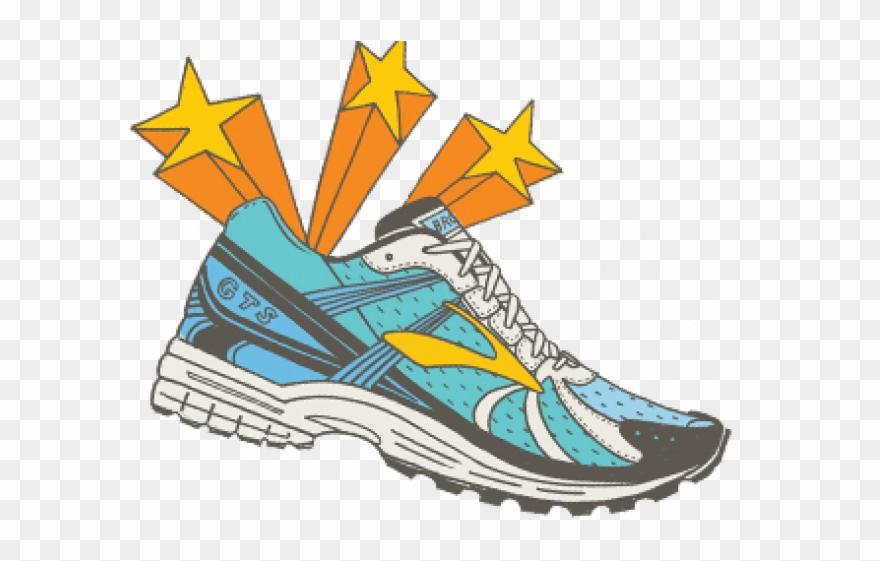 Mens Running Shoe Clipart.